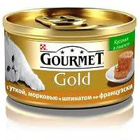Gourmet Gold - кусочки в паштете с уткой, морковью и шпинатом по-французски, 85г