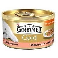Gourmet Gold - кусочки в подливке с форелью и овощами, 85г