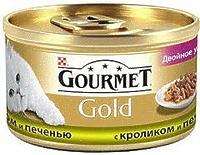 Gourmet Gold - кусочки в подливке с кроликом и печенью, 85г