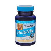 Nutri-Vet Multi-Vite НУТРИ-ВЕТ МУЛЬТИ-ВИТ комплекс витаминов и минералов для собак, жевательные таблетки , 60 табл.