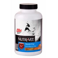 Nutri-Vet Multi-Vite НУТРИ-ВЕТ МУЛЬТИ-ВИТ комплекс витаминов и минералов для собак, жевательные таблетки , 240 табл.