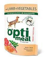 OptiMeal Lamb and Vegetables - консервы с ягненком и овощами в желе для взрослых кошек