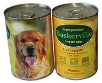 Baskerville - консервы  с петухом, рисом и цукини