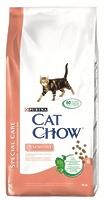Cat Chow Для кошек для пищеварения с лососем и рисом