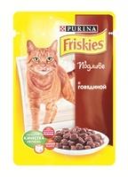 Friskies Кусочки в подливе для кошек с говядиной