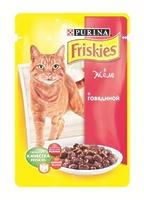 Friskies Кусочки в желе для кошек с говядиной