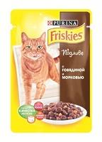Friskies Кусочки в подливе для кошек с говядиной и морковью