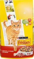Friskies Для кошек с мясом, печенью и курицей