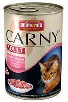 Animonda Carny Adult Rind, Pute+Shrimps Консервы для кошек с говядиной, индейкой и креветками