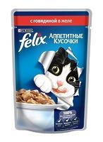 Felix Кусочки в желе для кошек с говядиной