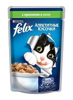 Felix Кусочки в желе для кошек с кроликом