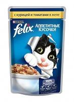 Felix Кусочки в желе для кошек с курицей и томатами