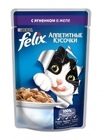 Felix Кусочки в желе для кошек с ягненком