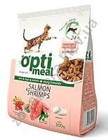 Optimeal™ Сухой корм для взрослых котов  - с лососем и креветками