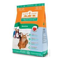 Сухой корм Клуб 4 лапы для кошек с чувствительным пищеварением