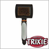TRIXIE TX-24141 Щетка-пуходерка мягкая с пластиковой щетиной TRIXIE