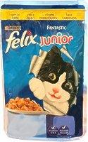 Felix Fantastic JUNIOR кусочки с курицей в желе для котят