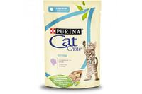 Cat Chow  Kitten (Пурина Кэт Чау Киттен). . Консервированный порционный полнорационный корм для котят.С индейкой и цуккини.  85г