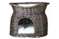 Лежак-домик для кошек TTRIXIE , серый, 54 x 43 x 37 см.