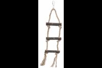 Лестница из натуральной живой веревки, TRIXIE , 3 ступени / 40 см, например: канарейки, волнистые попугайчики
