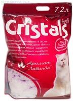 Наполнитель силикагелевый для кошачьего туалета Cristals fresh (Кристал Фреш) с лавандой, 4,8л
