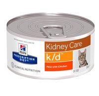 Hills Prescription Diet Feline k/d pate для кошек кошек с почечной недостаточностью, с Курицей, 156г