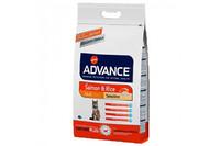 Advance (Эдванс) Cat Sensitive Salmon & Rice - корм для кошек с чувствительным пищеварением (с лососем и рисом) 15кг