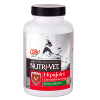Nutri-Vet Hip&Joint Extra НУТРИ-ВЕТ СВЯЗКИ И СУСТАВЫ ЭКСТРА, 2 уровень, хондроитин и глюкозамин для собак, с МСМ, таблетки , 75