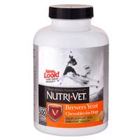 Nutri-Vet Brewers Yeast НУТРИ-ВЕТ БРЕВЕРС ЭСТ витаминный комплекс для шерсти собак, жевательные таблетки, 500 табл