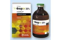 Флорон 30% раствор для инъекций (Антибактериальные препараты) 100 мл  для крупного рогатого скота, свиней КRКА, Словения