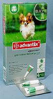 Адвантикс  капли 40 для собак весом до 4 кг, уп. 4 пипетки