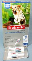 3 + 1 Бесплатно !!! Адвантикс для собак, 1 х 4мл пипетки