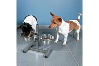 Стойка с мисками для собак TRIXIE, 2 x 0.75 л/D 15 cm