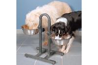 Стойка для собак TRIXIE - с мисками для двух собак, 2миски(металл)2,8л