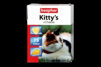 Beaphar Кормовая добавка Kitty's + Cheese для кошек 75 таб.