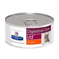 Hills Prescription Diet Feline i/d для кошек с Курицей, для поддержания здоровья кошек с расстройствами пищеварения, 156г