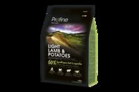 Profine (Профайн) Light Lamb & Potatoes - сухой корм для взрослых собак с лишним весом с ягненком и картофелем 3кг