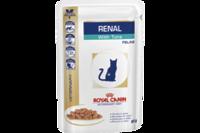 Royal Canin RENAL FELINE with TUNA pouches- почечный  диетический корм с тунцом  для взрослых кошек   0,085 г
