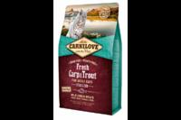 Carnilove FRESH CARP & TROUT STERILISED беззерновой корм для стерилизованных кошек и котов КАРП и ФОРЕЛЬ 6 кг