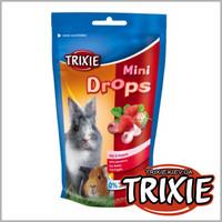 TRIXIE TX-60334 Лакомство для грызунов TRIXIE - Mini Drops клубника