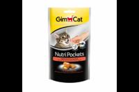 Подушечки Gimcat NutriPockets с лососем и Омега 3 и 6