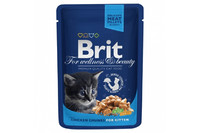 Влажный корм Brit Premium Кусочки с курочкой для котят