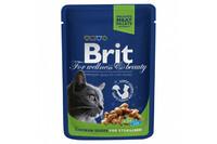 Влажный корм Brit Premium Курица для кастрированных котов и стерилизованных кошек