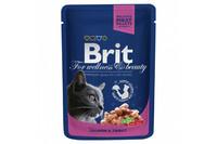 Влажный корм Brit Premium Лосось и форель для взрослых кошек
