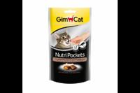 Подушечки GimCat NutriPockets с птицей и биотином для кошек