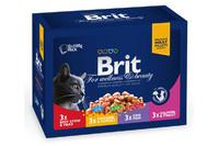 Влажный корм Brit Premium Ассорти Семейная тарелка 4 вкуса