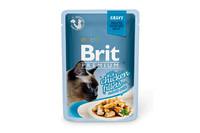 Влажный корм Brit Premium Кусочки куриного филе в соусе