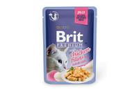 Влажный корм Brit Premium Кусочки куриного филе в желе