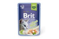 Влажный корм Brit Premium Кусочки филе форели в желе