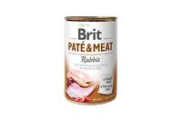 Brit Pate & Meat Dog k 400 g для взрослых собак с кроликом